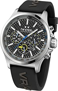 TW Steel Men's Quartz Watch Chronograph Display and Silicone Strap, TW-TW939