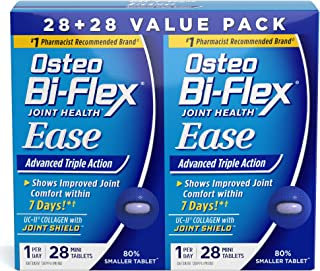 Ease Advanced Triple Action w/Vitamin D by Osteo Bi-Flex, Joint Health with Bone & Immune Support, Value Pack, 56 Mini Tablets