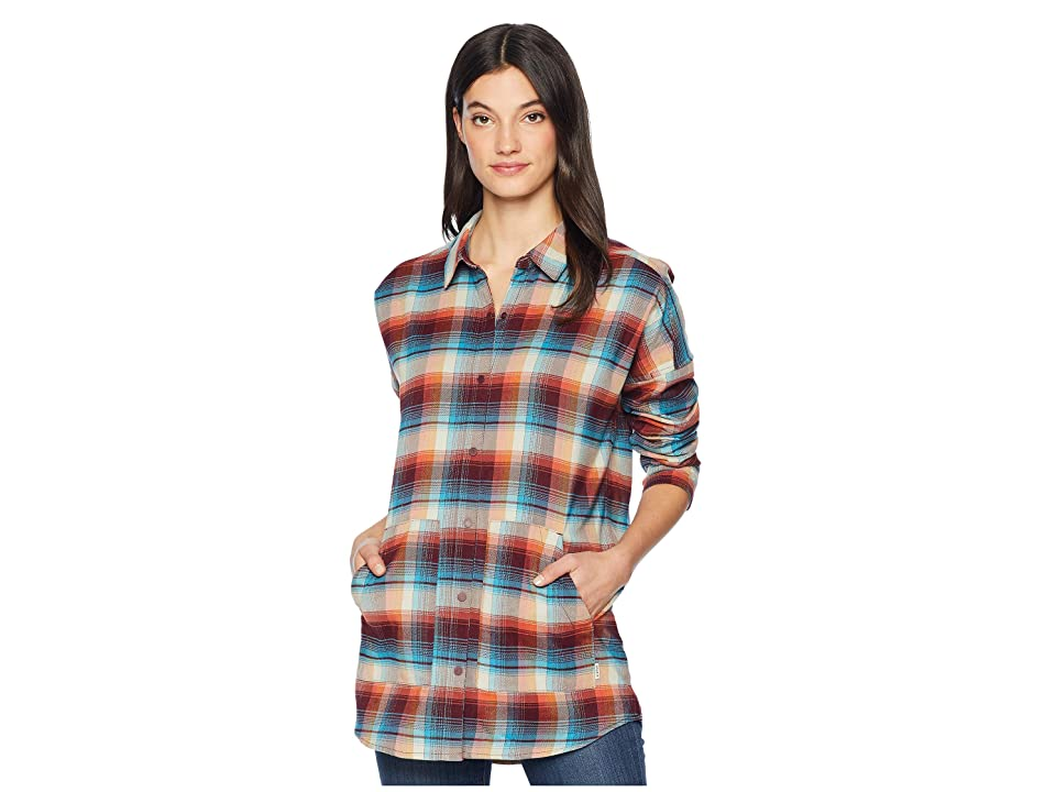 Burton Teyla Flannel Long Sleeve T-Shirt (Pelican Vista Plaid) Women