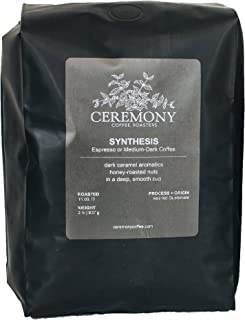 Ceremony Coffee Roasters - Synthesis House Blend - Specialty Whole Bean or Ground Coffee- 2lb Bag (Whole Bean)