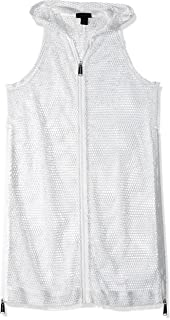Steve Madden Womens X5301 Mesh on The Go Zipper Vest Cotton Lightweight Jacket
