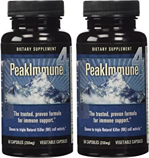 Daiwa Peak Immune 4 - Immune System Booster – Rice Bran and Shitake Mushroom Supplement for Natural Immune Support (2-Pack)