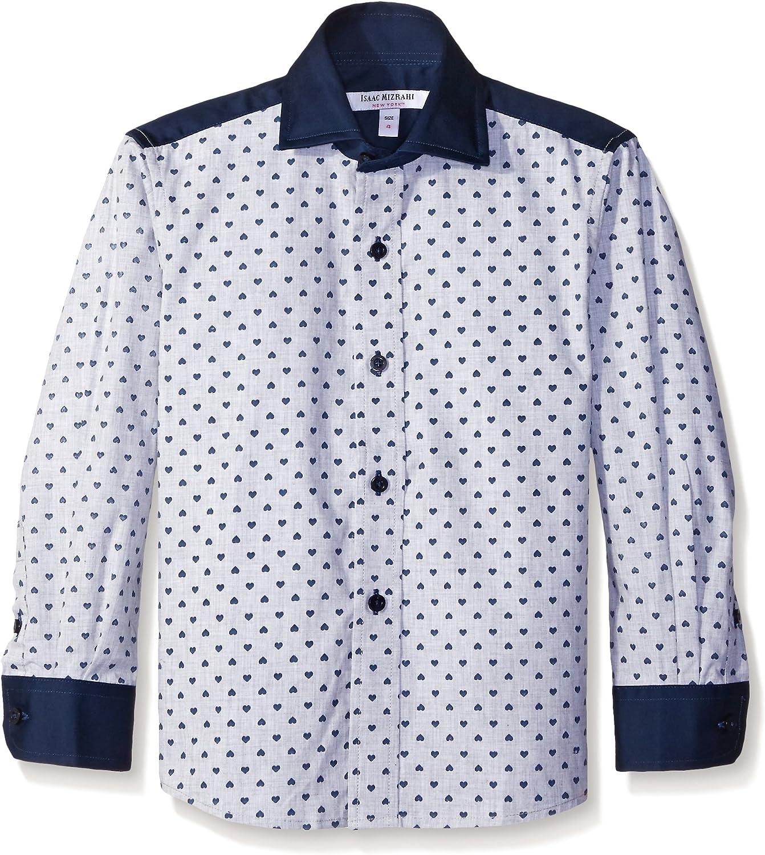 Isaac Mizrahi Boys' Heather Hearts Shirt