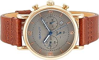 ساعة من غانت سبرينج فيلد للرجال بسوار جلد وميناء باللون الرمادي وشاشة عرض انالوج، طراز G Gww007004