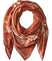 The Kooples - Lightweight Modal Skull Flowers Scarf
