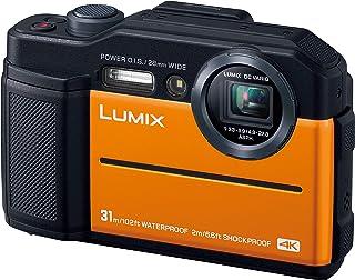 パナソニック コンパクトデジタルカメラ ルミックス FT7 防水 4K動画対応 オレンジ DC-FT7-D