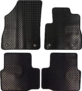 Color Negro JVL 1363 Alfombrillas Para Coche con 4 Clips