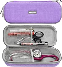 ButterFox Semi Hard Stethoscope Carry Case, fits 3M Littmann Stethoscope and Other Accessories (Purple)