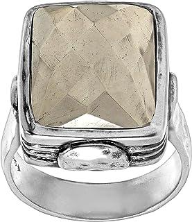Silpada 'Amarillo' Natural Pyrite Ring in Sterling Silver