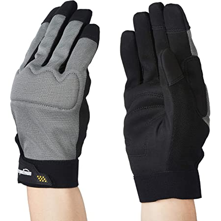 Amazon Basics Enhanced Flex Grip Work Gloves - Gray, XXL