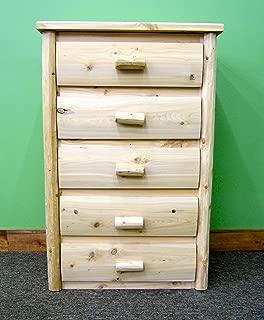 Midwest Log Furniture - Premium Log Dresser - 5 Drawer