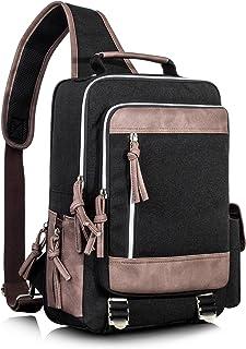 Leaper Retro Messenger Bag Outdoor Cross Body Sling Bag Travel Bag Black 3103