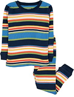 Leveret Striped Kids & Toddler Boys Pajamas 2 Piece Pjs Set 100% Cotton Sleepwear (Toddler-14 Years)