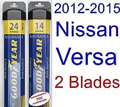 2012-2015 Nissan Versa Replacement Wiper Blade Set/Kit (Set of 2 Blades) (Goodyear Wiper Blades-Assurance) (2013,2014)
