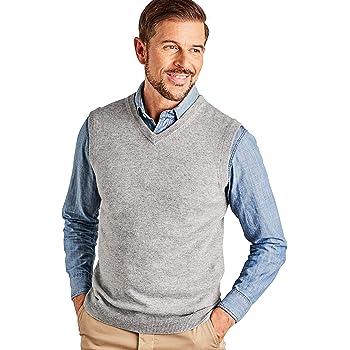 Man vest in 20/% cashmere 80/% merino