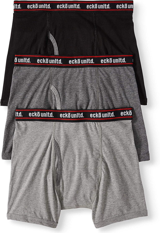 Ecko Unltd. Super Soft Cotton Stretch   Comfort Stretchflex Spandex Boxer Brief   97% Cotton, 3% Spandex   3 Pack