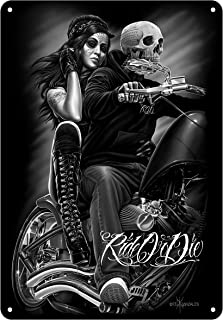 Midsouth Products David Gonzales Tin Art Sign - Ride or Die
