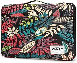 Kinmac 360° Protective Waterproof Laptop Case Bag Sleeve with Handle (14 inch, Black Maple)