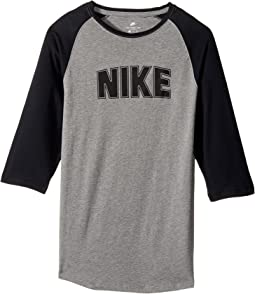 Nike Kids - Sportswear Raglan 3/4 Sleeve T-Shirt (Little Kids/Big Kids)