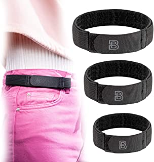 For Women No Buckle Elastic Belt — 3 Pack (S, M, L) — Fits 1 Inch Belt Loops, Easy To Use
