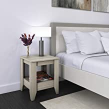 Boyd Sleep, Grey Prato Nightstand, Contemporary Wood Finish, Preassembled with Lower Shelf