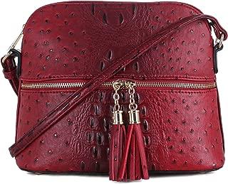 SG SUGU Animal Pattern Lightweight Medium Dome Crossbody Bag with Tassel