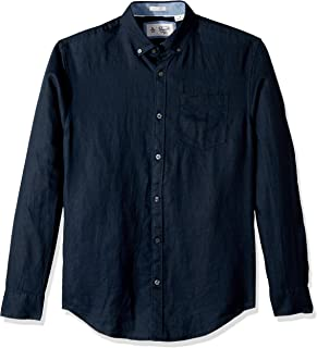 Original Penguin Men's Long Sleeve Linen Shirt