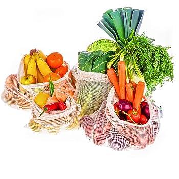 Instant Eco Bolsas reutilizables fruta Juego de 5 - Bolsas de ...