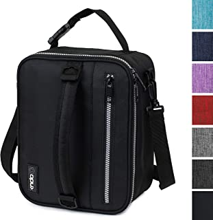 OPUX Premium Insulated Lunch Box for Men, Women | School Lunch Bag for Boys, Girls, Kids | Compact Adult Lunch Pail Work Office Cooler | Soft, Leakproof, 4 Ways to Carry | Fits 12 Cans (Black)