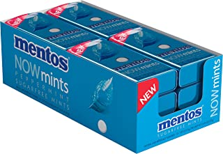 Mentos NOWMint Tin, Peppermint, Halloween Candy, Bulk, Non Melting, 1.09 ounces/50 pieces (Pack of 12)