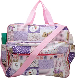 Indi Bargain Baby Carry Nappy Diaper Multipurpose Bag with Multi Compartment (Large,Pink)
