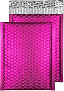 "Blake Matte Padded Bubble Mailer Envelopes Pack of 100 7"" x 9 7/8"" Shocking Pink"