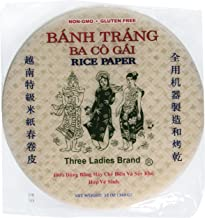 Three Ladies Spring Roll Rice Paper Wrappers (Round 22cm 3pks)