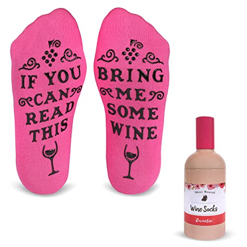 Cavertin FunnyBring Me Wine Cotton Socks With Bottle Can Gift Packaging