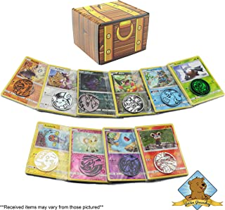 Golden Groundhog Pokemon Trading Card Grab Bag Bundle! Featuring 10 Random 10ct Grab Bags! Rares - Foils - Coins! Great for Holidays - Christmas - Birthday and More! Includes GG Treasure Chest Box!