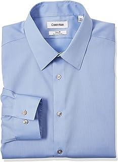 Men's Dress Shirts Slim Fit Non Iron Solid