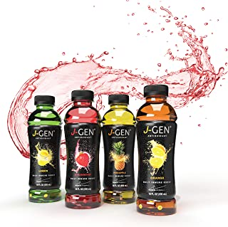 J-GEN ANTIOXIDANT-INFUSED DRINK by Julio Iglesias Jr. - Healthy and Refreshing - Essential Minerals and Vitamins - Contains Electrolytes - 18 FL OZ BOTTLE 4 flavors - 12 Variety Pack