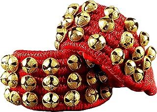eSplanade Ghungroo, Ghungru (24 + 24) - 3 Line Ghungroo on Red Cushion Pads | Bell, Ghungru 3 Line Red Pad, Red Pad Ghungr...