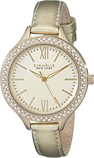 Caravelle by Bulova Women's Gold Dial Polyurethane Band Watch - 44L131