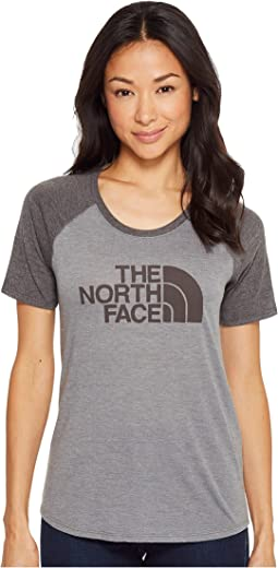 The North Face - Short Sleeve 1/2 Dome Graphic Tri-Blend Baseball Tee