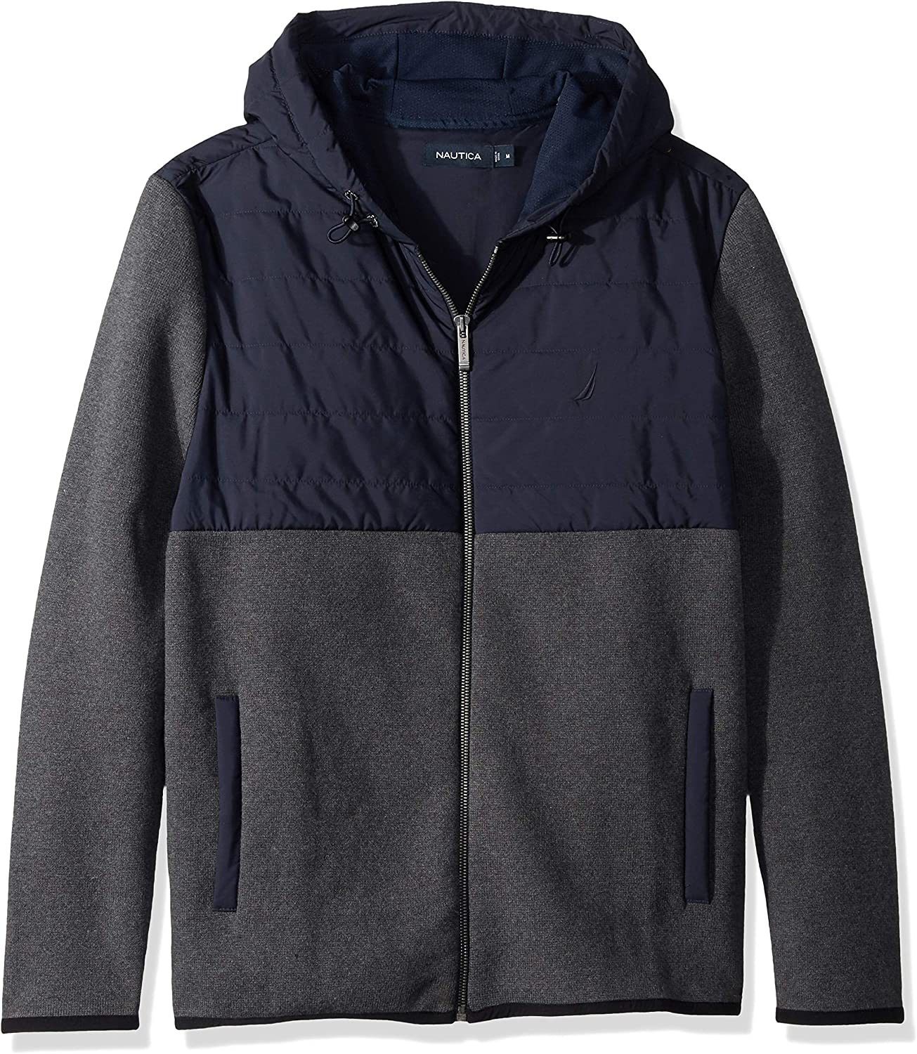 Nautica Men's Long Sleeve Mix Hoodie Sweater Media All stores Max 44% OFF are sold