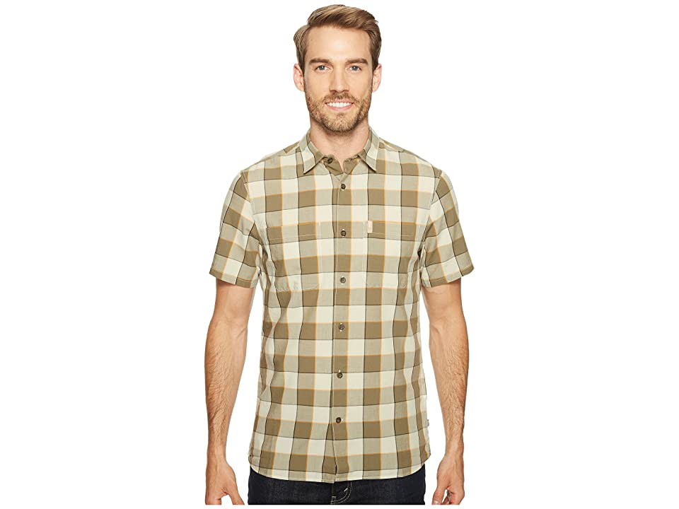 Fjallraven High Coast Big Check Shirt Short Sleeve (Chalk White) Men