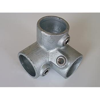 1 Fonte mall/éable thermisch vollbadverzinkt avec vis B /& T m/étal Raccord de tuyau Raccord en T Long T104//Ø 33,7/mm