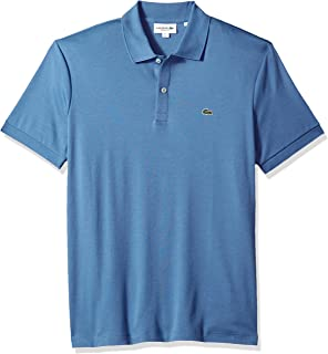 ba504713be7 Lacoste Men s Short Sleeve Pima Jersey Interlock Regular Fit Polo