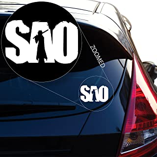 Yoonek Graphics Sword Art Online Decal Sticker for Car Window, Laptop and More. # 801 (4