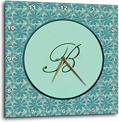 3dRose dpp_36008_3 Elegant Letter B in a Round Frame Surrounded by a Floral Pattern All in