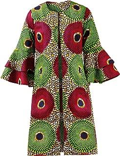 Women African Print Jacket Dashiki Traditional Top Dress