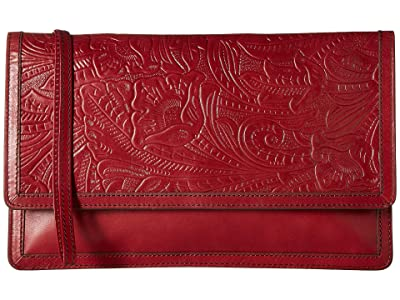 Hobo Crest (Embossed Logan Berry) Clutch Handbags