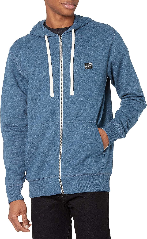 Billabong Men's Classic Premium Full Zip Fleece Sweatshirt Hoodie
