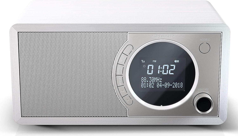 SHARP DR 20WH DAB+ Digital Radio DAB/DAB+/FM mit RDS, Bluetooth,  Wecker  Funktion, weiß